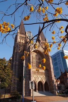 Brisbane's beauty, Australia. This is my hometown's Cathedral. I think this is St. Mary's Cathedral, which is surrounded by large office blocks. You can see this as the photographer has cropped the photo quite a lot.
