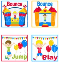 Fun Bounce House Jump Play Birthday Party Treat by KissedLinen