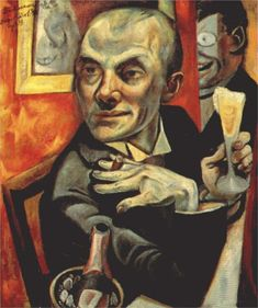 Max Beckmann, Self-portrait with Champagne Glass, 1919