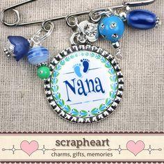 @Laurie Guzman Nana Pin PERSONALIZED Bezel Pendant Nana To Be by ScrapheartGifts, $19.00