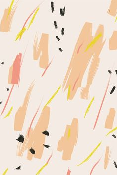Pattern by Hello Nobo - coral, pink, yellow, black