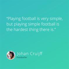 Simple is not always easy! #football