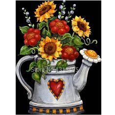 Sewing Machine Teapot Cup Cross Stitch DIY Full Round Diamond Painting Surprise