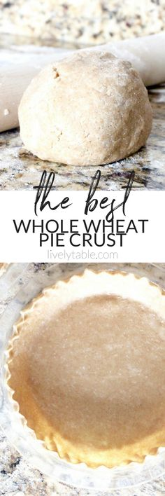 A tender, flaky whole wheat pie crust made without shortening. It's the perfect all-purpose base sure to make any pie more delicious and nutritious! (#vegan option)| #wholewheat #piecrust #thanksgiving #dessert | via livelytable.com