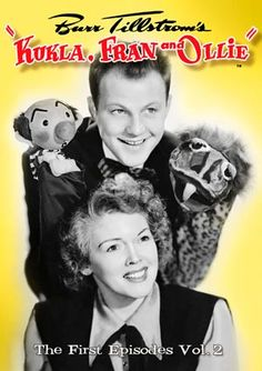 Kukla, Fran and Ollie Creator/Puppeteer Burr Tillstrom, and Fran Allison are pictured with Puppet stars Kukla and Ollie. The show debuted on NBC in 1947 and ran till 1957. Like many early shows, it did not have a script and was entirely adlib. Live TV was great then!