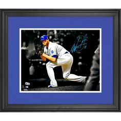 "Wade Davis Kansas City Royals Fanatics Authentic 2015 MLB World Series Champions Framed Autographed 11"" x 14"" 2015 World Series Spotlight Photograph - $151.99"
