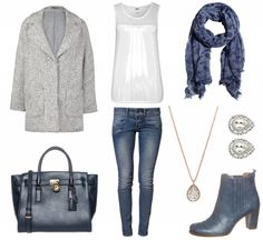 #Herbstoutfit Edel in blau ♥ #outfit #Damenoutfit #outfitdestages #dresslove