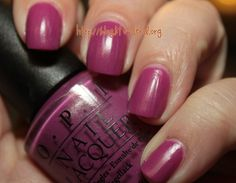 OPI My Auntie Drinks Chianti - a long discontinued favorite =(