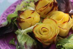Cómo hacer rosas de patata al horno