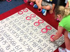 Make your hundred's chart more interactive and engaging during whole group or math centers. (First Grade Wow)