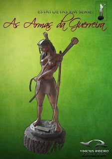 """Estatueta """"As Armas da Guerreira"""""""