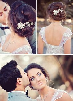 Pretty hair and makeup. From Bliss Wedding Blog and Magazine {Oakstream Photography}    followpics.co