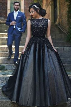 2016 Black Prom Dresses 2016 Prom Dress Lace Prom Dress Tulle Prom Dresses 2016 Formal Gown Simple Evening Gowns Unique Party Dress Lace Prom Gown Ball Gown Evening Gowns For Teens Simple Evening Gown, Evening Dress Long, Ball Gowns Evening, Ball Gowns Prom, Black Evening Dresses, Black Wedding Dresses, Ball Dresses, Bridal Dresses, Party Dresses