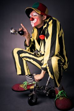 clown on a bicycle by Adam Lai Le Clown, Clown Faces, Circus Clown, Creepy Clown, Circus Theme, Pierrot Clown, Vintage Circus Posters, Clowning Around, Send In The Clowns