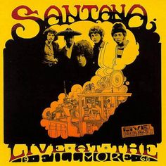 Classic rock concert psychedelic poster - Santana (probably at Fillmore West) 1968