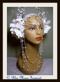 Headpiece, Headdress, Burning Man Headpiece, Fairy headress, Bellydance headpiece, Fantasy Headpiece, Tribal Headpiece