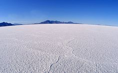 Photograph of One of the World's Great Salt Flats | Bonneville Salt Flats, Utah, USA
