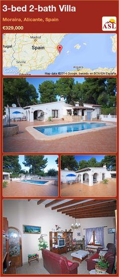 3-bed 2-bath Villa in Moraira, Alicante, Spain ►€329,000 #PropertyForSaleInSpain