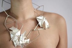 Georgina Treviño  Foldforming sterling silver neckpiece . (2012)