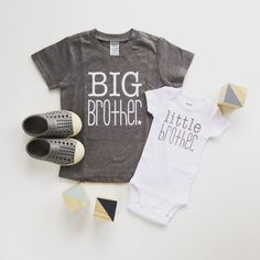Big Brother shirt and litte brother bodysuit | new baby announcement | sibling shirts | cute brother shirt | big bro shirt | little bro