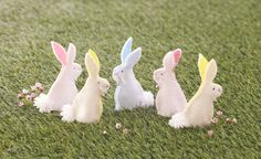 These little bunnies with their cute pom pom tails are a great Easter make to do with the kids. Learn how to make your own with this great how to.