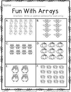 math worksheet : free resource arrays worksheet! students look at an array and  : Multiplication Arrays Worksheets