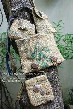 Burlap bags  www.facebook.com/RongXuBeNho.Craft.Decor