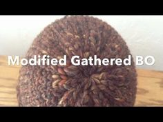 Modified Gathered Bind Off or Drawstring Cast off | Loom Knit a Hat