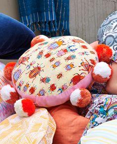 Beetles Pom Pom Cushion || Kip Interiors Online, Kid Spaces, Bean Bag Chair, Beetles, Cushions, Throw Pillows, Interior Design, Dream Big, Furniture