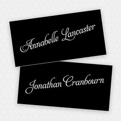 monochrome wedding name tags - can we get plain white paper printed with our logo in pink and we write names on tags .... we can use for dinner parties going fwd.