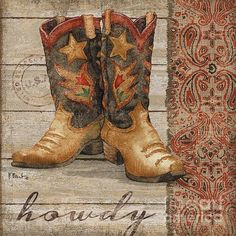 Wild West Boots Ii Print By Paul Brent