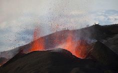 The eruption of Fimmvoerduhals volcano in Iceland