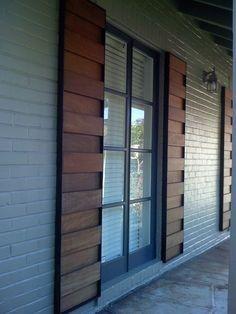 Modern shutters Modern shutters - All About Decoration Modern Shutters, Window Shutters Exterior, Cedar Shutters, Custom Shutters, House Shutters, Diy Shutters, Contemporary Shutters, Homes With Shutters, Outside Window Shutters