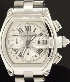 27cb168aef91 Cartier Roadster 2618 SS high fashion automatic chronograph men s watch   elegantwatches