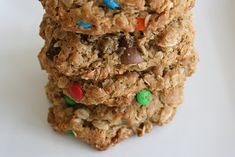 Monster cookies - nom nom nom!     @Alison Baughman, I remember when we went to Costa Rica you brought these, and it was the first time I had them, and they were soooo ahh-mazing! Gotta make 'em again <3