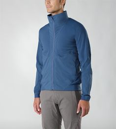 Dyadic Jacket Men's Versatile woolen jacket designed to be used in a multitude of environments, constructed with hybrid textiles for enhanced comfort and fit.