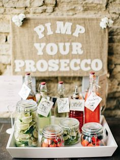 Create your own prosecco station! Image: M&J Photography