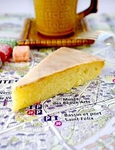 <i>Gâteau Nantais     Use almond flour not ground almonds. Add vanilla extract. 1/8 cup rum in the batter. 4 tablespoons in the syrup, a little for the glaze.  Very good!