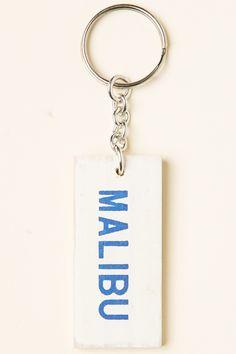 Brandy ♥ Melville | Wooden Malibu Keychain - Accessories