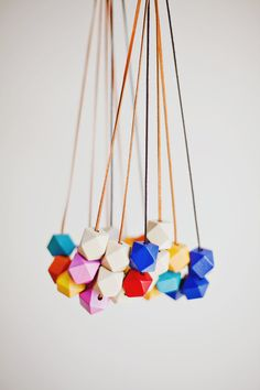 Geometric Necklace / Boho Necklace / Wooden by BlueBirdLab on Etsy, $20.00