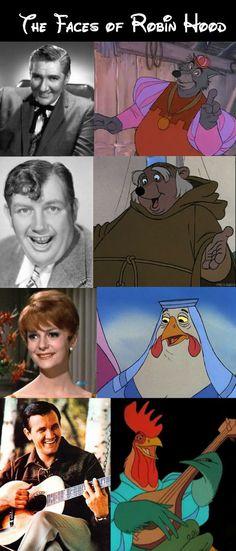 """Robin Hood"" - Pat Buttram as the Sheriff of Nottingham, Andy Devine as Friar Tuck, Carole Shelley as Lady Kluck, Roger Miller as Alan-a-Dale. Disney Animation, Disney Pixar, Walt Disney, Disney Characters, Disney Love, Disney Magic, Disney Stuff, Robin Hood 1973"