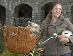 Bicycle Baskets For Dogs | Midnight Pass, Inc. Pet Products | Wicker Cruiser Pet Bicycle Basket