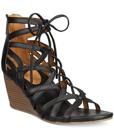 659c1b0b92673a Kenneth Cole Reaction Women s Cake Pop Gladiator Lace-Up Wedge Sandals -  Sandals - Shoes