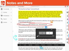 iAnnotate takes the pain out of it, letting you ink, highlight, underline, stamp, make notes, and more on a PDF version of your kids' essays via your iPad.