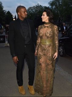 May 23rd, 2016 - Kim and Kanye at the Vogue 100 Gala Dinner in London