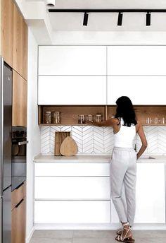 Home Decor Kitchen .Home Decor Kitchen Kitchen Room Design, Kitchen Cabinet Design, Modern Kitchen Design, Home Decor Kitchen, Interior Design Kitchen, Home Kitchens, Kitchen Ideas, Modern White Kitchens, Small Kitchens