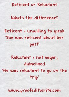 Reticent: In a Sentence - WORDS IN A SENTENCE