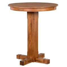 "Sedona 36"" Round Pub Table in Rustic Oak"