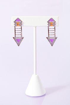 Neon Arrow Earrings