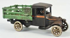 Cast Iron Arcade Stake-Back Truck Toy